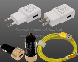 QC2.0 USB AC Adapter, Car Charger With USB Cable