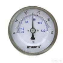 Bimetaal Thermometer (de Vatting van de Golfplaat, het AchterType van Verbinding) (BTT)