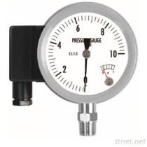 Tutto il manometro dell'acciaio inossidabile con il contatto elettrico (tipo) del microinterruttore MSPS