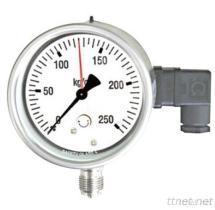 Calibrador de presión análogo con el interruptor micro (tipo a prueba de mal tiempo)