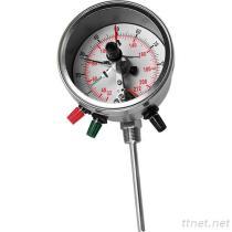Termometro bimetallico con il contatto elettrico (tipo registrabile) di angolo BTAC