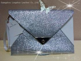 Pu glanst de Zilveren Handtas van de Envelop