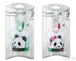 Бирка мешка панды при ключевое установленное кольцо (зеленый цвет)