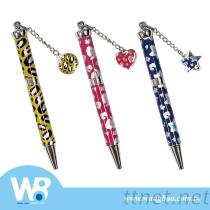 Metal Ball Pen In Leopard Print With 3 Designs