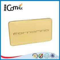 Gold Custom Engraved Handbag Metal Brand Logo Label