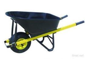 De Hulpmiddelen en het Materiaal van het landbouwbedrijf en Hun Kruiwagen van het Wiel van het Gebruik