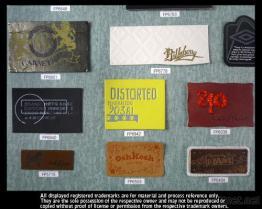 가죽 PU 가죽 상표 (Debossed, 스크린 인쇄)