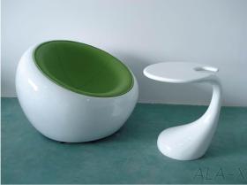半分のドームの椅子のEero Aarnioの球の椅子の余暇の居間の椅子およびテーブル