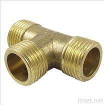 Männliches Gewinde des Verbindungsstück-Adapter T-Stück Messingt Gleichgestelltes Rohr Kraftstoff Wasser Form 1/2