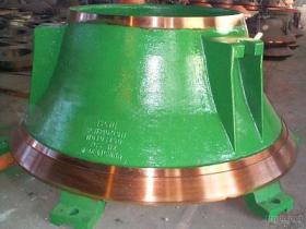 높은 망간 콘 쇄석기 사발 강선 격판덮개, 콘 쇄석기 착용 강선 격판덮개, 쇄석기 착용 부속