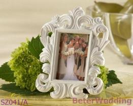 백색 바로크식 사진 구조 또는 장소 카드 홀더 결혼식 훈장 당 훈장