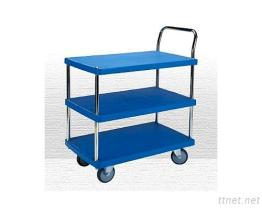 3 Shelf Plastic Trolley-PHL-423-1G