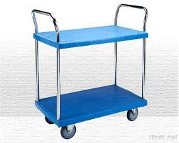 2 Shelf Plastic Trolley