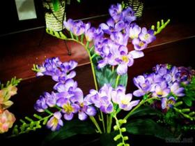 Flor artificial, orquídea de polilla