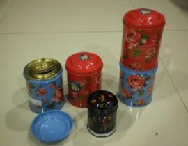 imballaggio del regalo della latta del tè