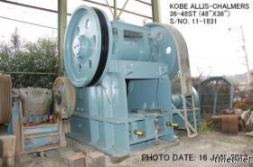 Benutzte 36-48. Kiefer-Zerkleinerungsmaschine S/No.11-1831 Kobe-Allis-Chalmers