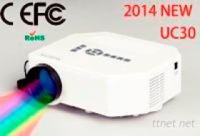 Stützte sich neuer Projektor UC30, Schwarzweiss-Farbe, HD des Entwurfs-2014