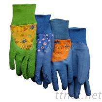 乳液の上塗を施してある手袋