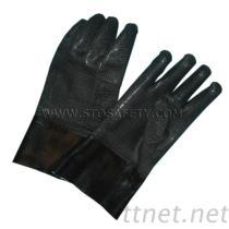 ネオプレンの上塗を施してある手袋