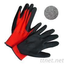 Microfinishのニトリルの上塗を施してある手袋