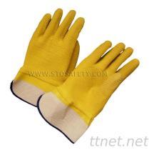 頑丈な乳液の上塗を施してある手袋