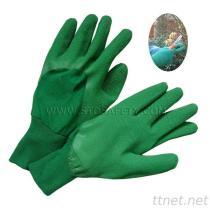 庭の乳液の手袋