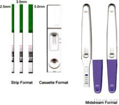 Ein Schritt hCG Schwangerschaft-Test (Streifen, Kassette, Mittelstrahl)