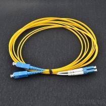 SC-LC Faser-Optiksteckschnür G652D SM/MM Simplex-/Duplex