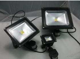 PIR 감지기 LED 투광램프, 높은 루멘 50W 홍수, IP65 옥외 점화