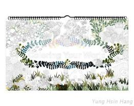 Calendrier mural de coloration