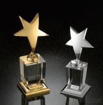 金および銀の星のトロフィ賞のギフト