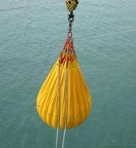 クレーンテストのための海洋水負荷袋