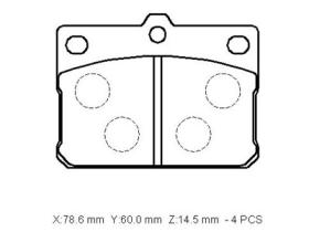 MD6000 Brake Pads