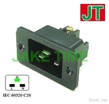 Enchufe de energía audio C20 del IEC 60320 del grado
