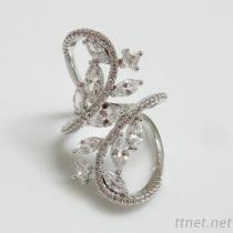 Marquise & Round Clear CZ Ring