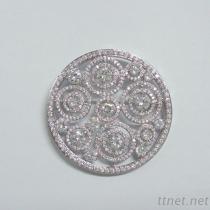 Circle Round Wedding Brooch
