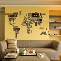 NY95 de Sticker van de Muur van pvc van het Ontwerp van de Kaart van de wereld voor de Decoratie van het Huis