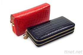 PU Leather Double Zipper Long Wallets ,man wallets(SW11)
