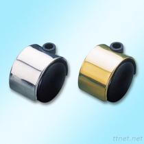 쌍둥이 바퀴 나일론 피마자 (Polished 크롬 또는 금관 악기 줄기에)