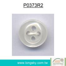 Round Imitation Shell Polyester Resin Shirt Button