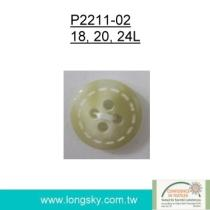 Popular Rod Polyester Resin Button
