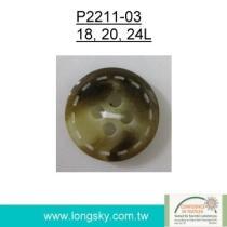Botón popular de la resina del poliester de Rod (#P2211-03)