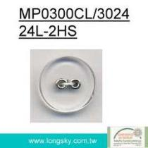 Fancy Clear Eyelets Shirt Button (#MP0300CL/3024-24L)