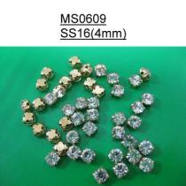 4Mm 둥근 모조 다이아몬드 꿰매는 단추