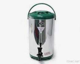 (12L-Green) Stainless-Steel изолированный распределитель напитка
