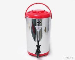 (12L-Red) Stainless-Steel изолированный распределитель напитка