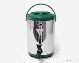 (10L-Green) Stainless-Steel изолированный распределитель напитка