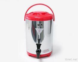 (10L-Red) Stainless-Steel изолированный распределитель напитка