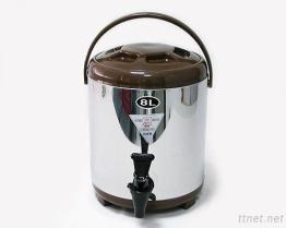(8L-Brown) Stainless-Steel изолированный распределитель напитка