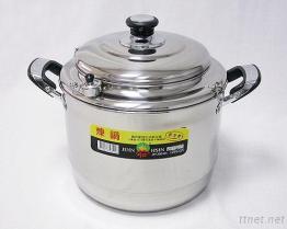 28Cm Stainless-Steel бак тушёного мяса & пара
